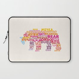 Bear in Different Languages Laptop Sleeve