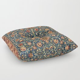 William Morris Floral Carpet Print Floor Pillow