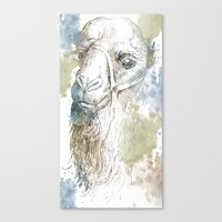 camel Canvas Prints featuring Camel by Zen and Chic