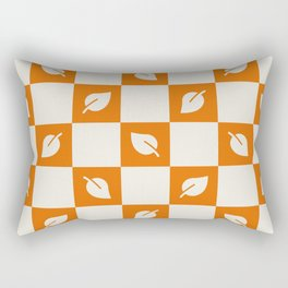 Leaves - orange and beige check Rectangular Pillow