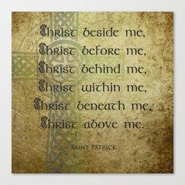 Christ Before Me ~ St. Patrick Canvas Print