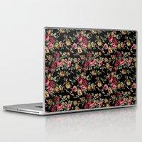 vintage flowers Laptop & iPad Skins featuring Vintage Flowers by Eduardo Doreni