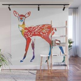 Rainbow Deer Wall Mural