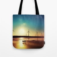 bond Tote Bags featuring Friendship Bond by tourmania