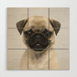 Pug Puppy - Colorful Wood Wall Art