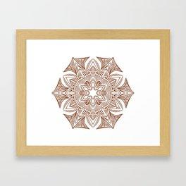 Hexagonal Mandala Framed Art Print