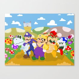 Wario and Foes Canvas Print