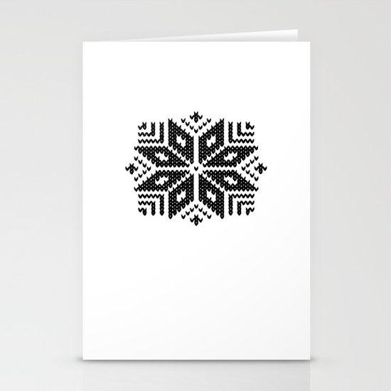 knit flake Stationery Cards
