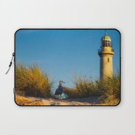Old lighthouse from Hanseatic city of Rostock Laptop Sleeve