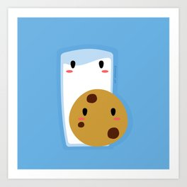 Milk and Cookie Art Print