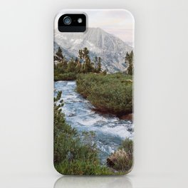 Alpine River and Mountains iPhone Case