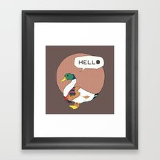 Mr duck Framed Art Print