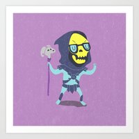 skeletor Art Prints featuring Skeletor by Rod Perich