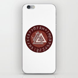Valknut | Viking Warrior Symbol Triangle iPhone Skin