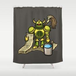 Bucket Knight Shower Curtain