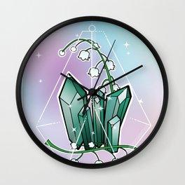 May -- Gems + Stems Wall Clock