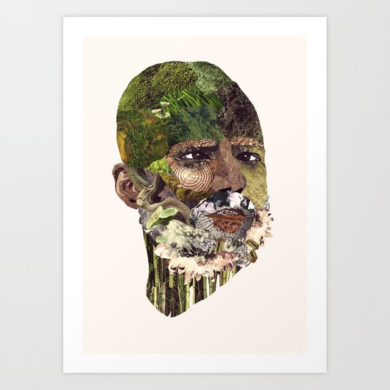 Earth Head Art Print