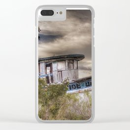 Shipwrecked at sunset Clear iPhone Case