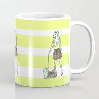 yorkie Mugs featuring Yorkie by miba