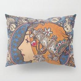 "Alfons mucha ,"" Zodiac "" Pillow Sham"