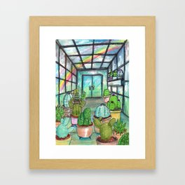 cactus are awesome Framed Art Print