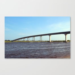 Bridge To Sunset Beach Canvas Print