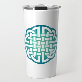 St. Patrick's Day Celtic Blue Knot #1 Travel Mug