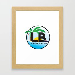 Long Beach CA Logo Design Framed Art Print