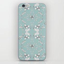 Acorns and Ladybugs blue pattern iPhone Skin