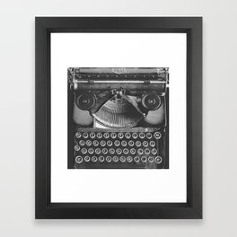 Vintage Typewriter - Before Email Framed Art Print