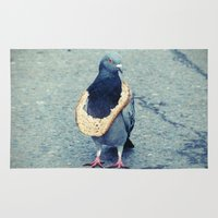 hiphop Area & Throw Rugs featuring HipHop Dove Wait by Sigurdfisk