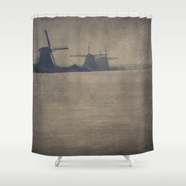 Kinderdijk Windmills II Shower Curtain