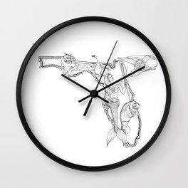Florida Mermaid Wall Clock