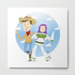 Woody y Buzz Metal Print