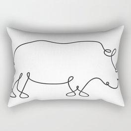 Rhinoceros Line Art Rectangular Pillow
