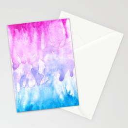 Abstration in pink and blue color Stationery Cards