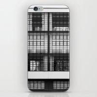 bauhaus iPhone & iPod Skins featuring Bauhaus Facade by Ben Rice McCarthy