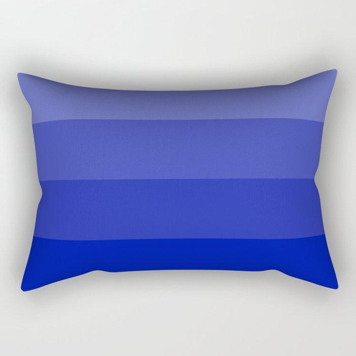Four Shades of Blue Rectangular Pillow