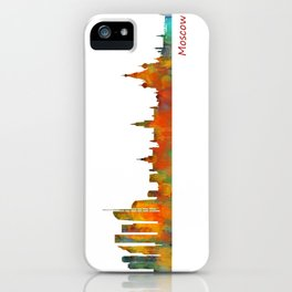 Moscow City Skyline art HQ v1 iPhone Case