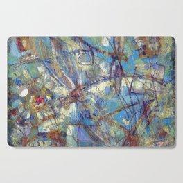 Dragonflies in blue Cutting Board