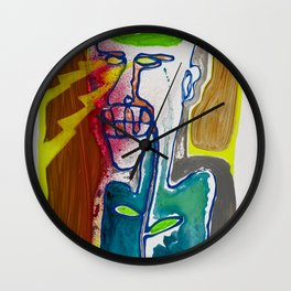 The man with the eyes of death rays was seen in the mirror first and last time Wall Clock