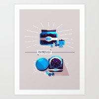 :::Sweet blueberry marmalade::: Art Print