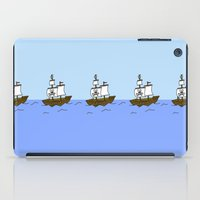 pirate ship iPad Cases featuring Pirate Ship by Isobel Woodcock Illustration