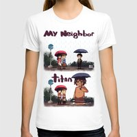 snk T-shirts featuring SNK-My neighbor titan by Mimiblargh
