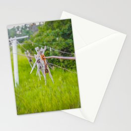 Clothespins on the Line, North Dakota 3 Stationery Cards