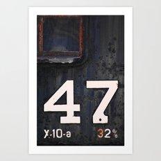 47 Red Window Art Print