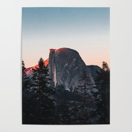 Last Light at Yosemite National Park Poster