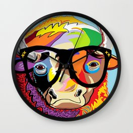 "Hipster Bison ""Buffalo"" Wall Clock"
