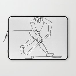 Field Hockey Player Continuous Line Laptop Sleeve