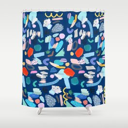 """""""Save The Earth"""" Colourful Contemporary Art Shower Curtain"""